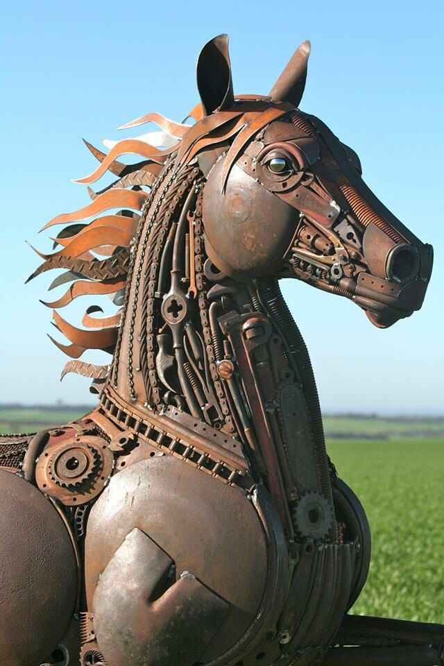 Trash Art Wonderful Artist HORSE Pinterest Trash Art - Artist creates incredible sculptures welding together old farming equipment