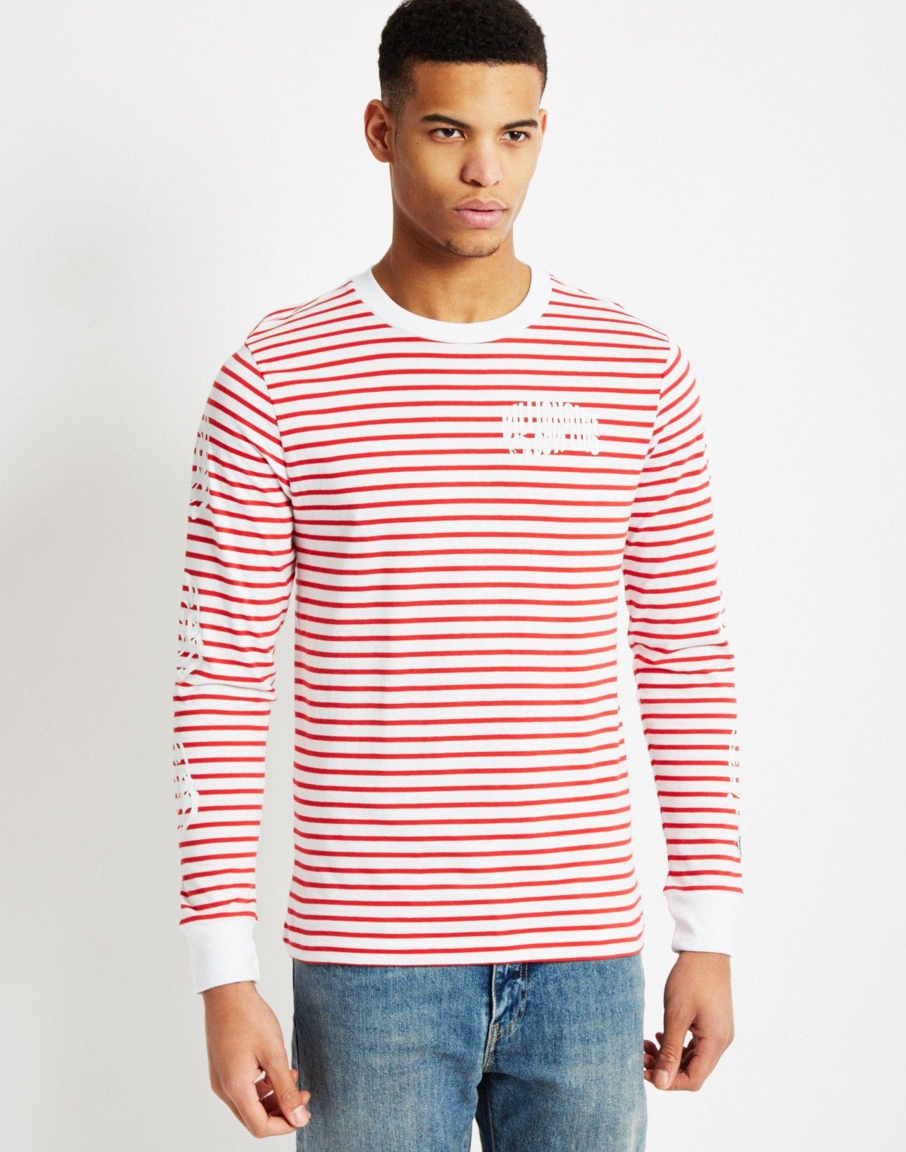 a457fe8081b Billionaire Boys Club Striped Long Sleeve T-Shirt Red   Shop men's street  wear clothing