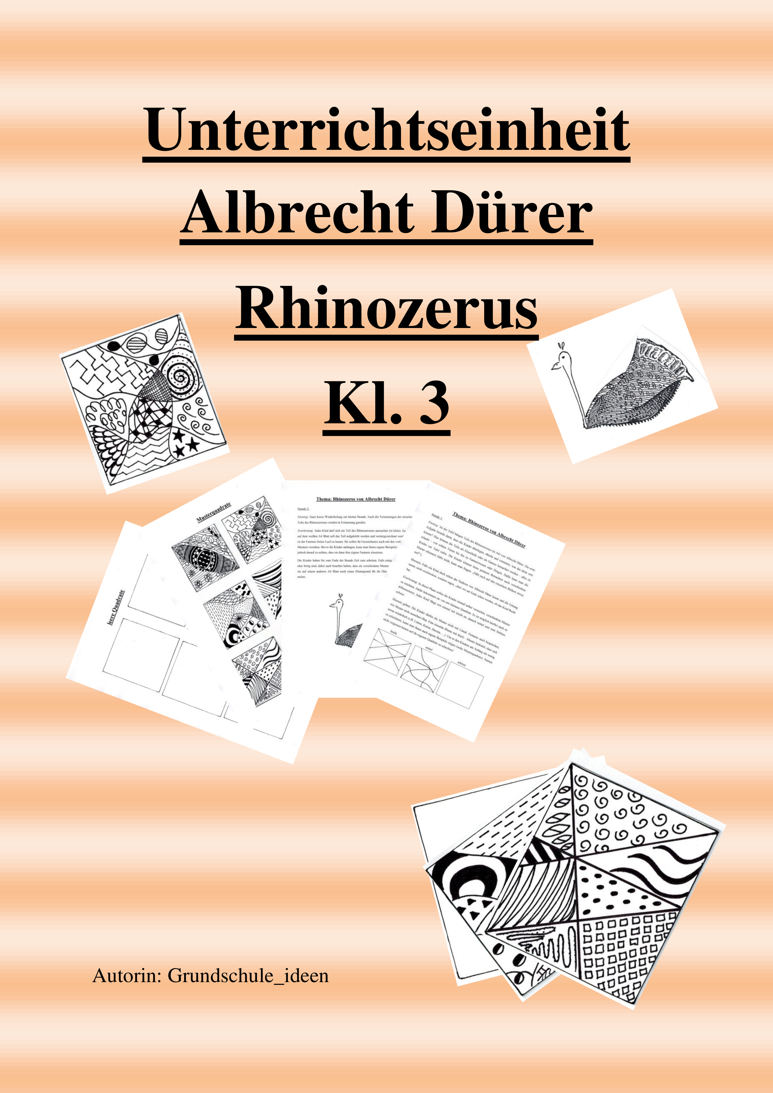 Unterrichtseinheit Albrecht Durer Rhinozerus Unterrichtsmaterial Im Fach Kunst Kunst Unterrichten Kunstunterricht Kunst Grundschule