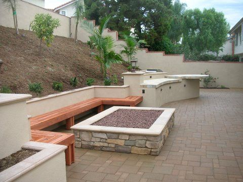 Pin By Carissa Marson On Backyard S Amp R Fire Pit Landscaping Fire Pit Pergola Fire Pit Patio