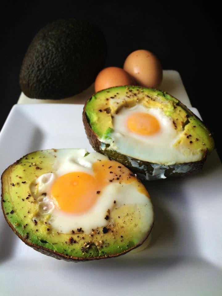 creamy avocado egg breakfast recette breakfast ideas pinterest. Black Bedroom Furniture Sets. Home Design Ideas