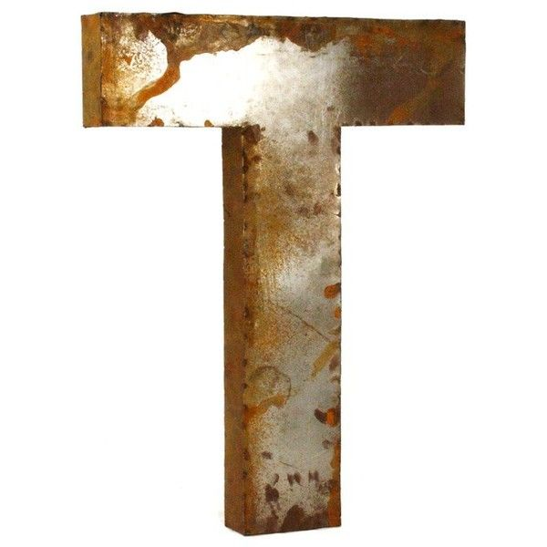 Metal Letter T 159 Liked On Polyvore Featuring Home Decor