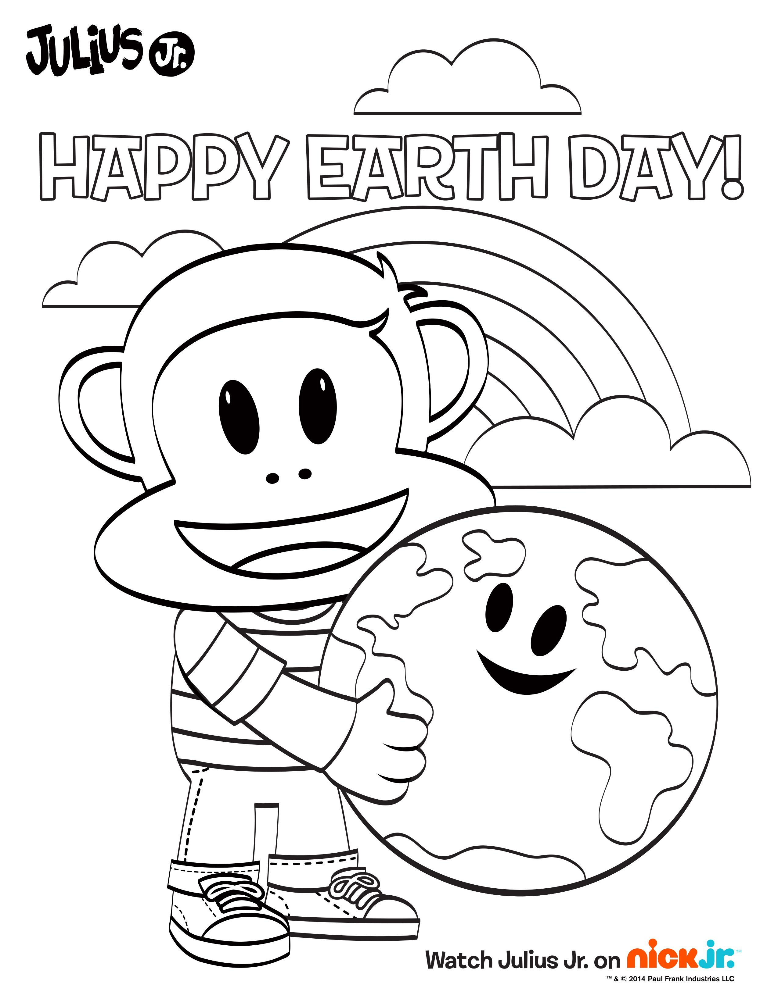 It S Almost Earth Day Free Printable Julius Jr Coloring Page