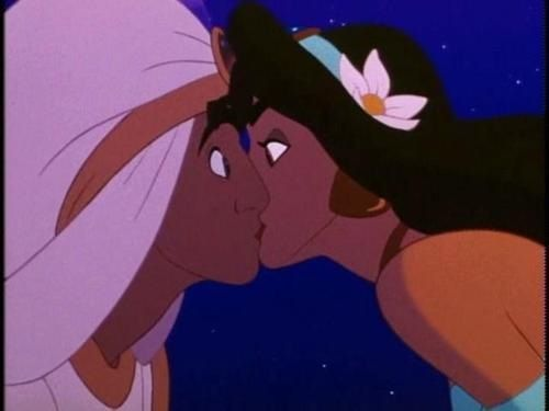 Aladdin Kissing Jasmine Disney Kiss Disney Princess Drawings