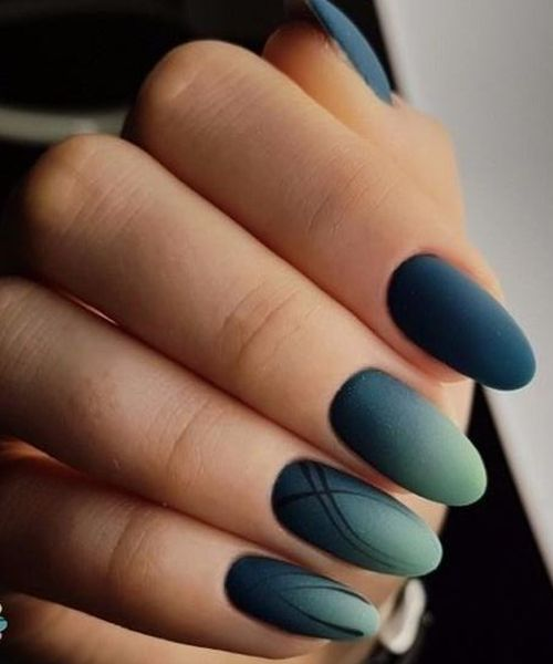 14 Of The Outstanding Blue Ombre Nail Art Designs For Parties Blue Ombre Nails Nail Art Ombre Matte Nails Design