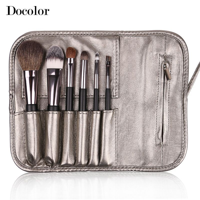 Free shipping Docolor Make up Brushes 6pcs/Set High