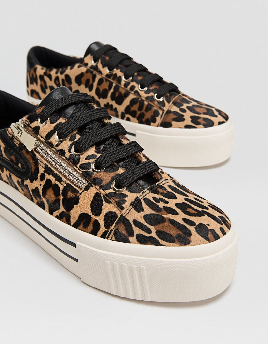 huge selection of 61f8c 0f912 Leopard print LEATHER trainers - Trainers   Stradivarius Spain - Islas  Canarias