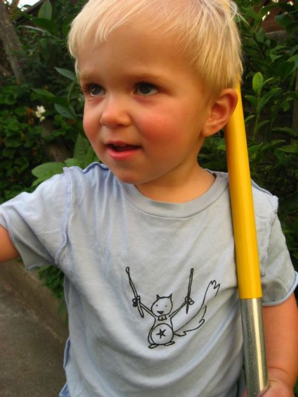 Rock Squirrel toddler tee by willotoons on Etsy