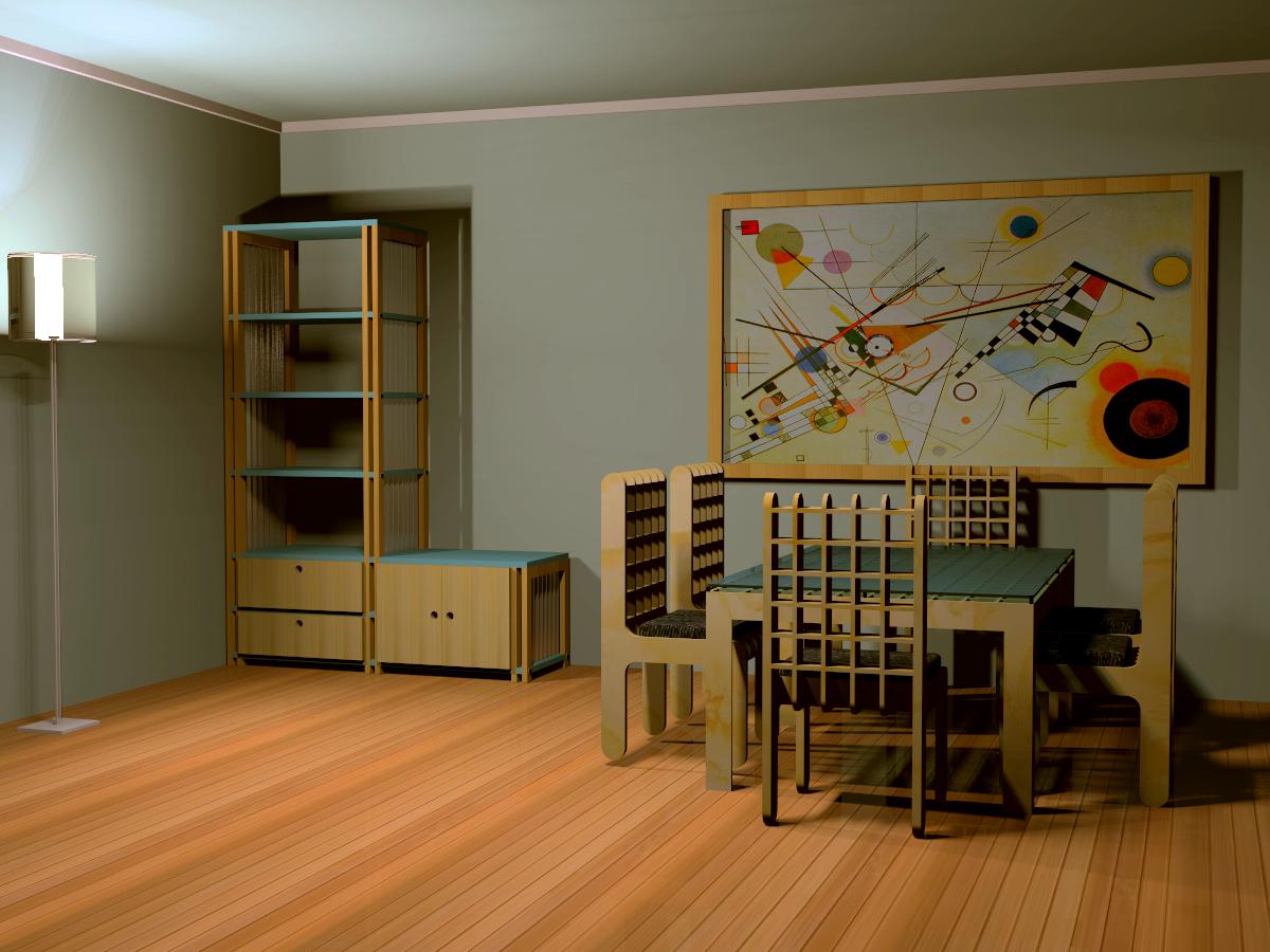 diseño mobiliario rack / mesa+sillas diseño personalizado (imagen ref)