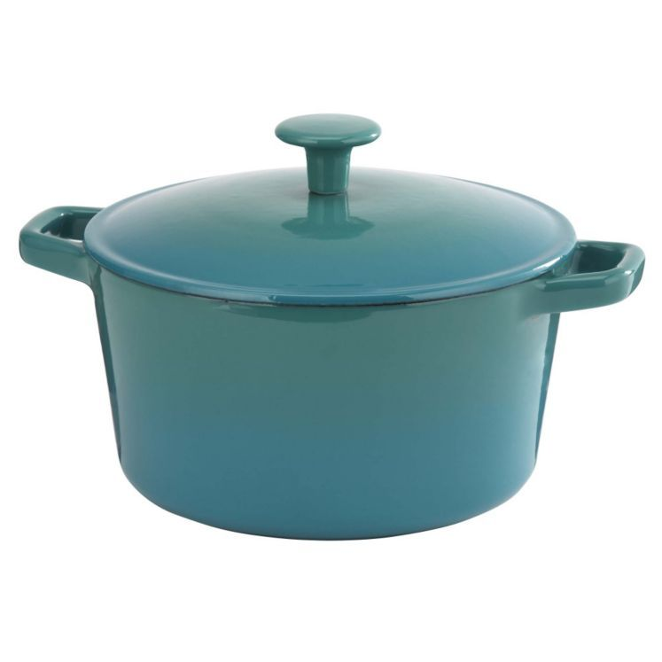 Cook S Collection Teal 3l Cast Iron Casserole Dish Cast Iron
