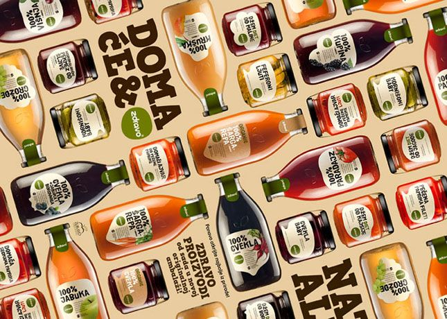 """Redesign of 100% natural juices and other organic/bio products from the Serbian company ZdravoOrganic, which manufactures healthy organic food products, included creating the new label and the new shape of glass containers. The very name of the product, """"ZDRAVO"""", has ambiguous meaning in Serbian language – it means both HELLO and HEALTHY, which in a way introduces the redesign and communicates the HEALTH platform of their organic/ natural / healthy food products."""