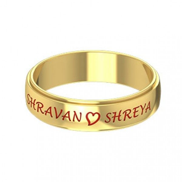 Explore The Different Kerala Wedding Rings Designs Including With Name Couple Ring