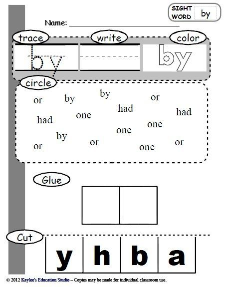73 sight word practice worksheets | Preschool sight words ...