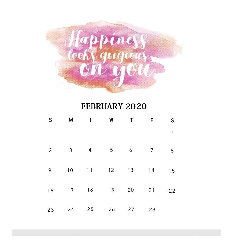Motivational February 2020 Desk Calendar Table calendar