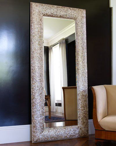 Interlude Home Mother-of-Pearl Floor Mirror - Mirror has mosaic ...