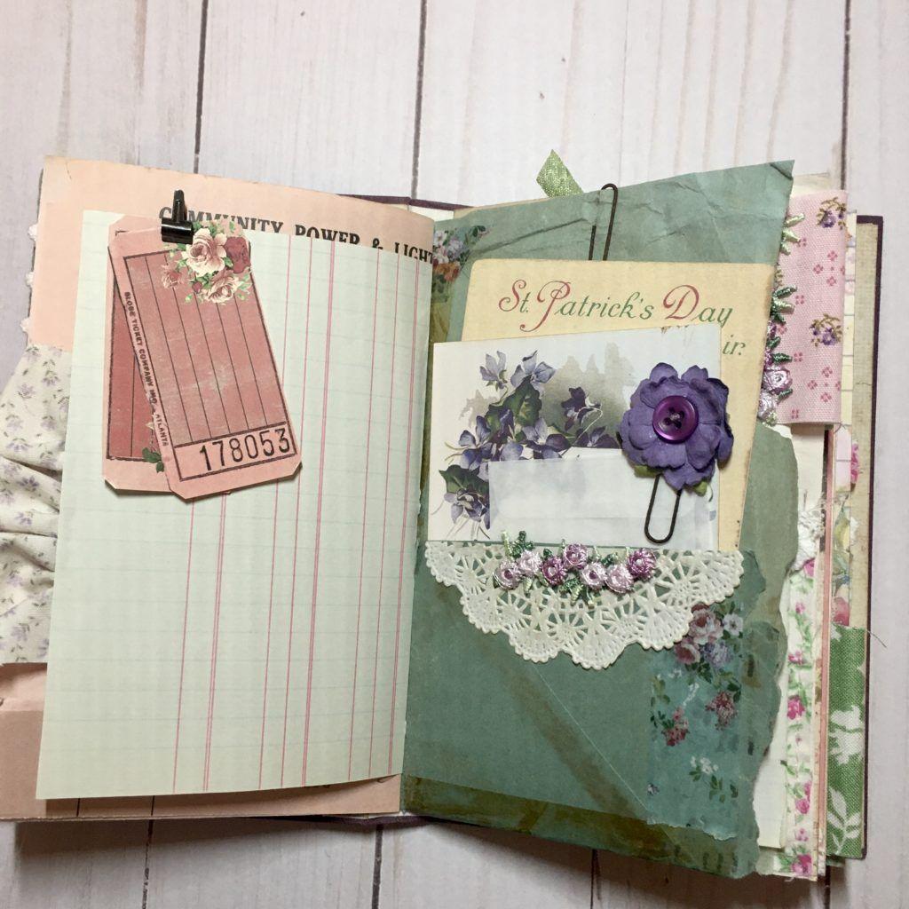 Floral Junk Journal By Beth Wallen In 2020 Vintage Journal Junk Journal Journal Cards