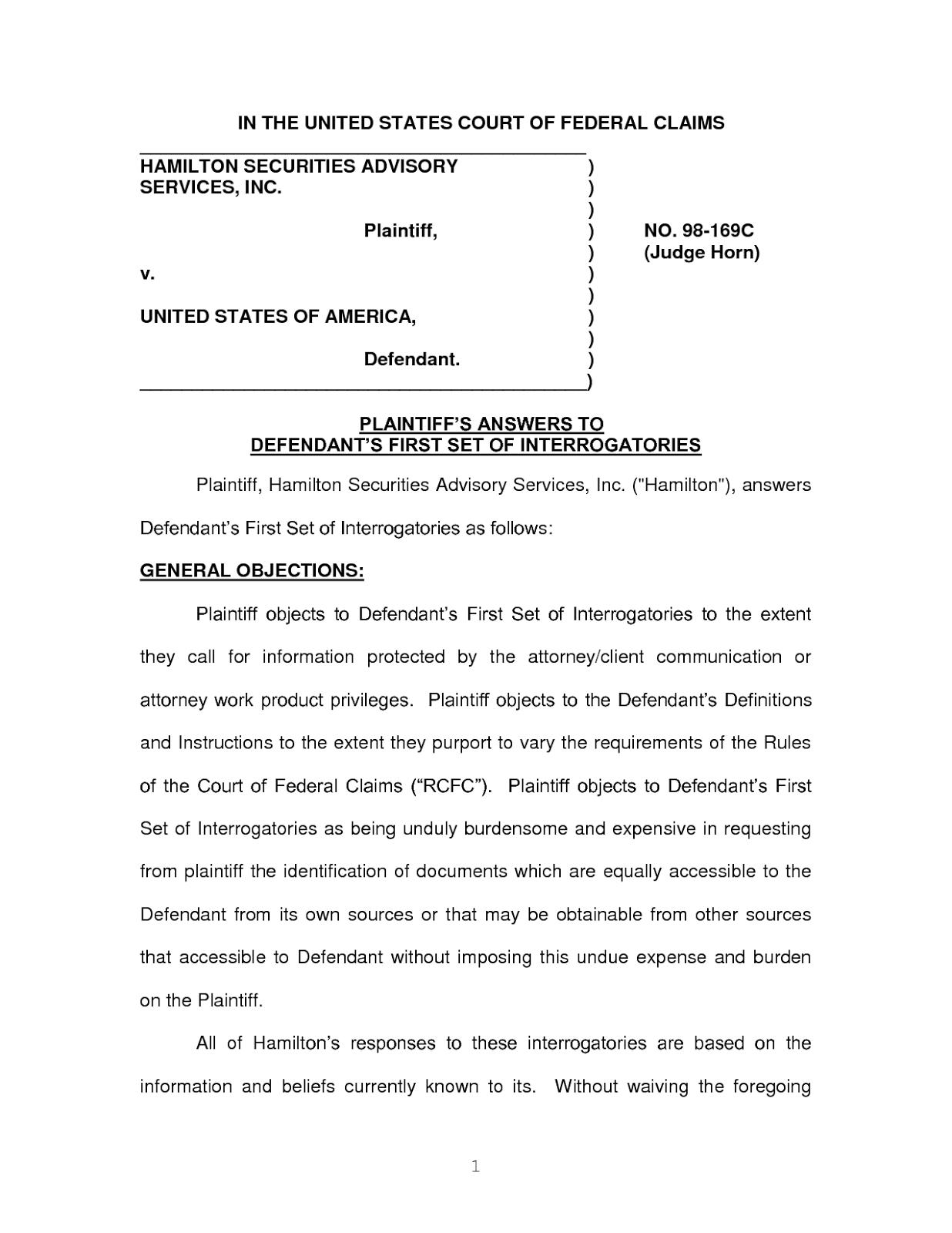Paralegal Tips Written Interrogatories In Federal District Court