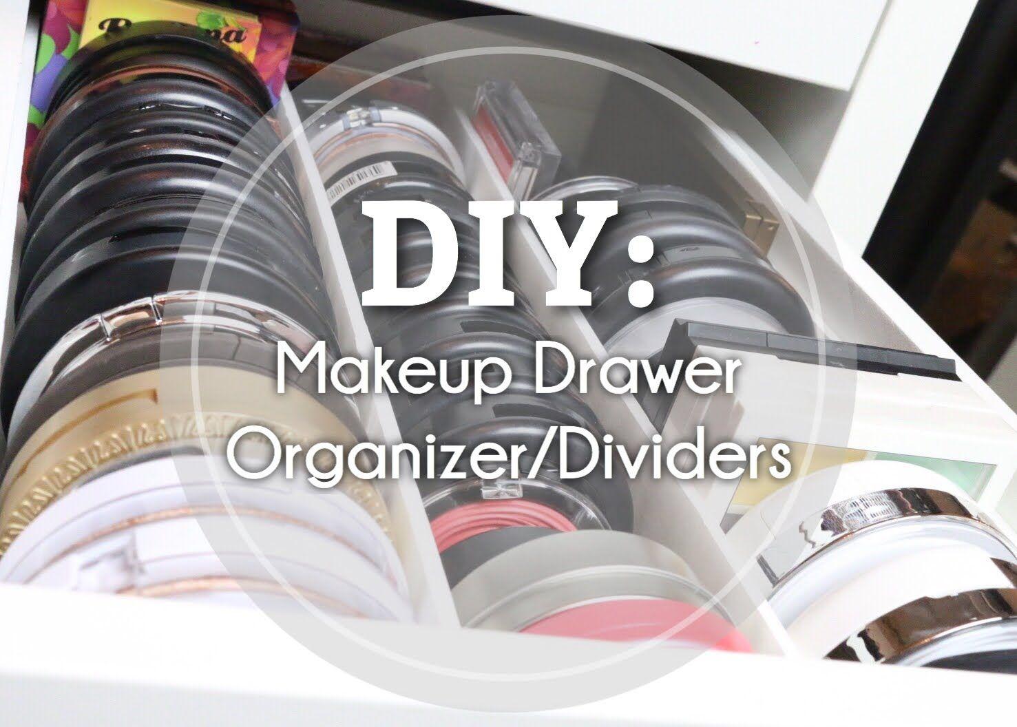 Diy makeup drawer organizerdivider beauty room ideas pinterest