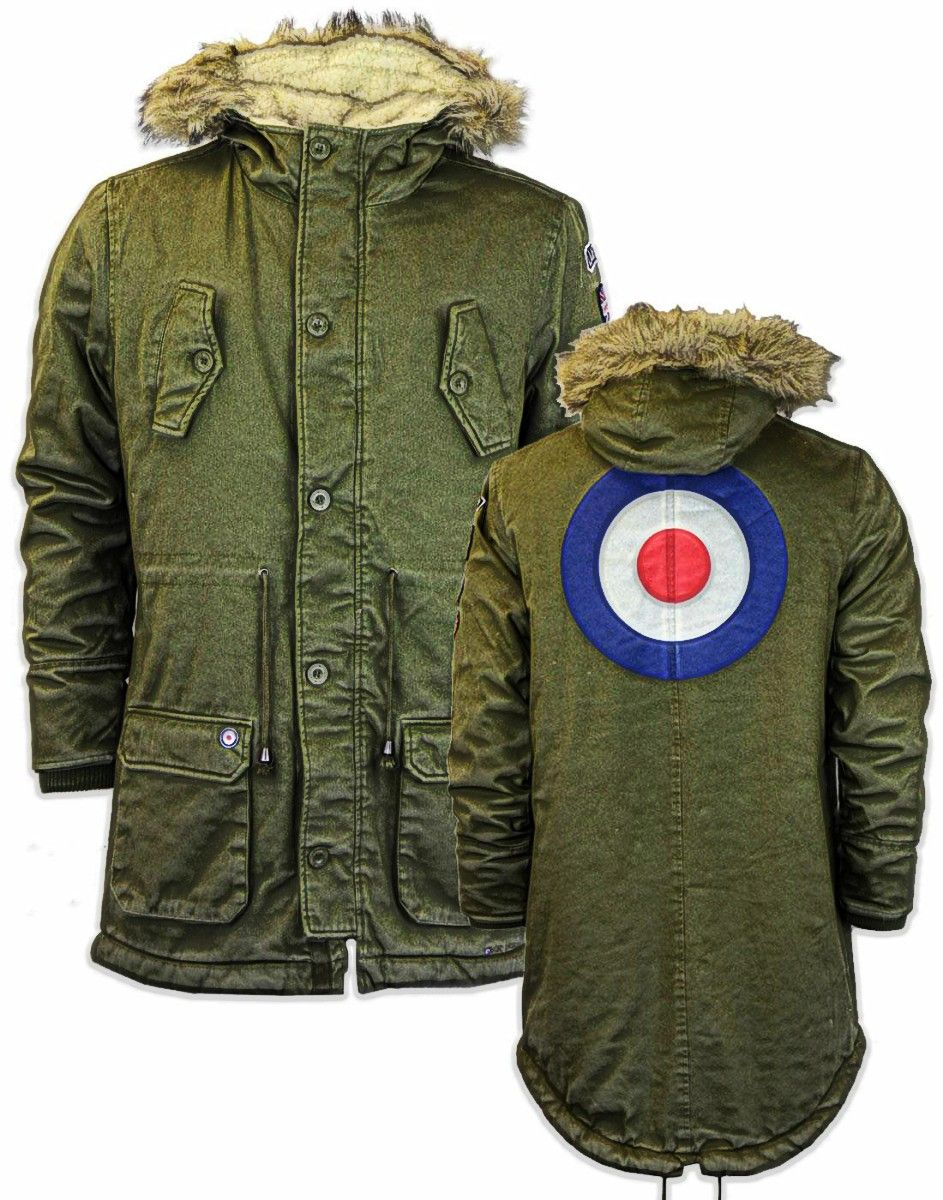 NEW CLASSIC RELCO FISHTAIL PARKA MOD SCOOTER 60/'s STYLE RETRO HOODED /& LINED.