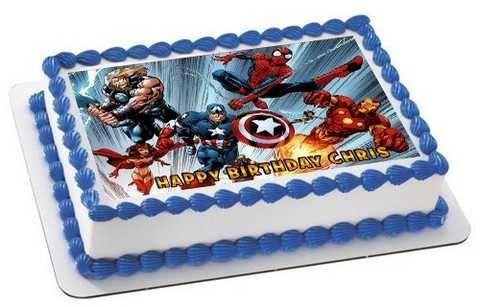 AVENGERS Edible Cake Topper Cupcake Toppers Strips Edible cake