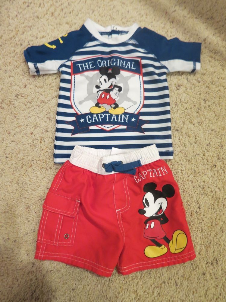 Disney Infant children cloths Mickey Mouse Newborn to 18 months Pants Top NWT