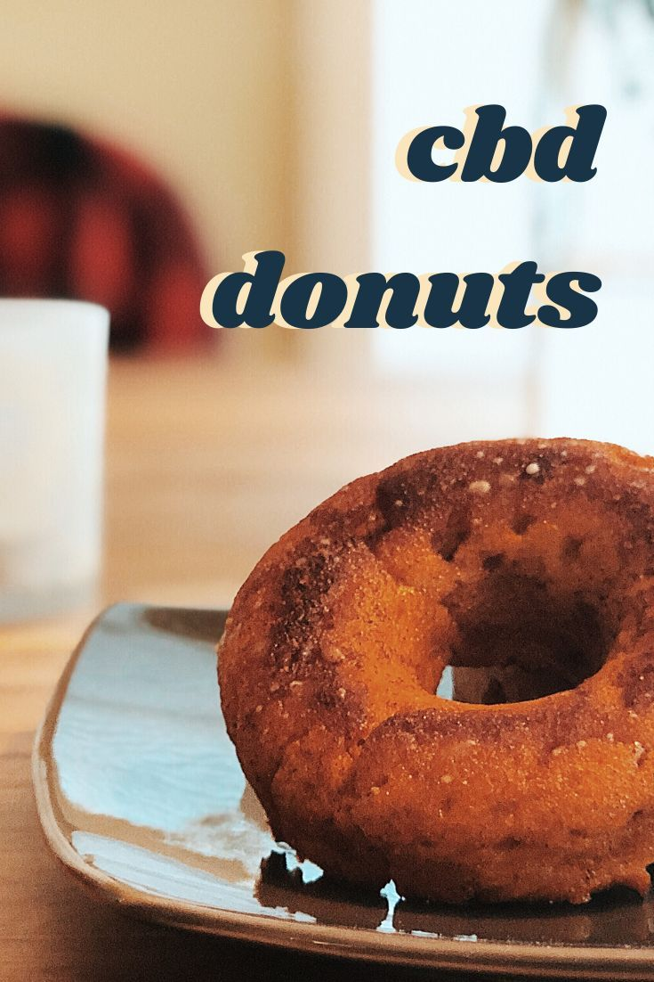 Pumpkin Spice Protein Donuts (with a CBD glaze!) #proteindonuts