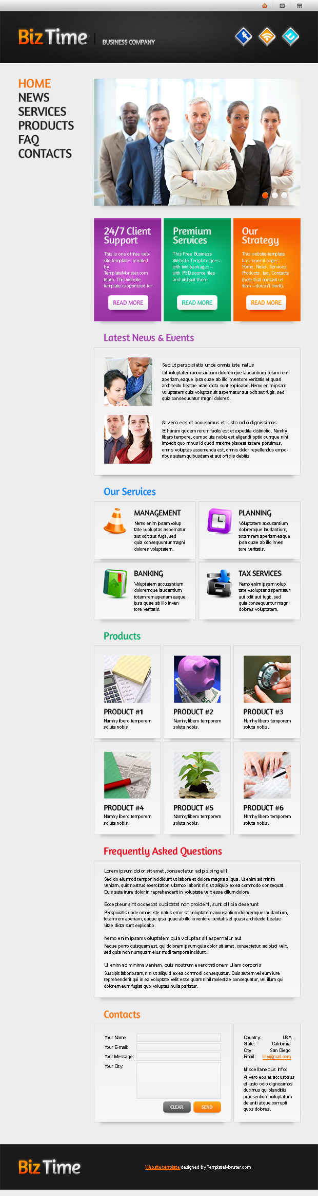 Free Website Template with Single Page Layout | Free website ...