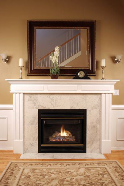 Brick Fireplace With Marble Tile, How To Reface A Brick Fireplace With Marble Tile