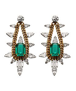 Drooling over these earings- Elizabeth Cole Chain and Crystal Chandelier Earrings