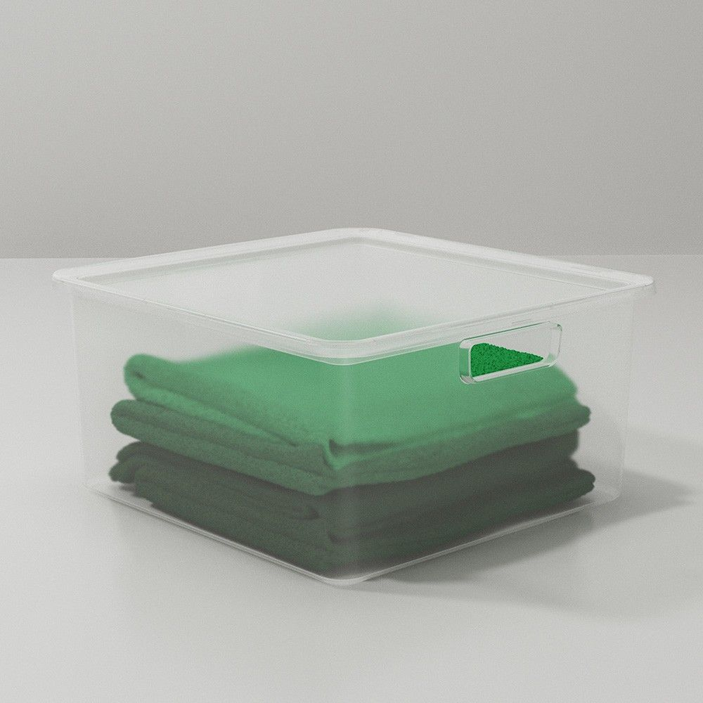 Plastic Sweater Bin Clear Made By Design In 2020 Made By Design Plastic Storage Bins Plastic Box Storage