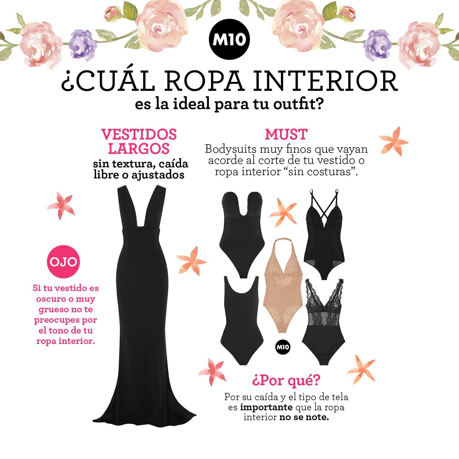 f140fa8ba907 Qué tipo de ropa interior usar con cada prenda?   Moda   Ropa, Tipos ...