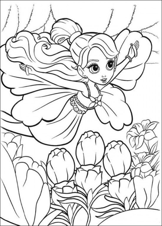 Free Coloring Sheets Of Barbie Thumbelina Printable Picture 3 550x770
