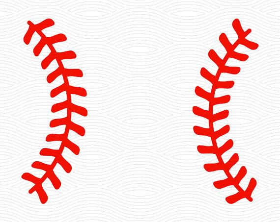 Baseball Stitches Monogram Frame Svg Eps Dxf Studio3