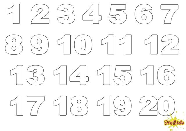 Zahlen Ausmalbilder Ausmalbild Zahlen Ziffern Kostenlose Malvorlagen Ideen Lettering Templates Santa Letter