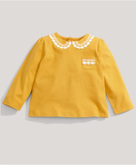 Girls Mustard Long Sleeved Tee