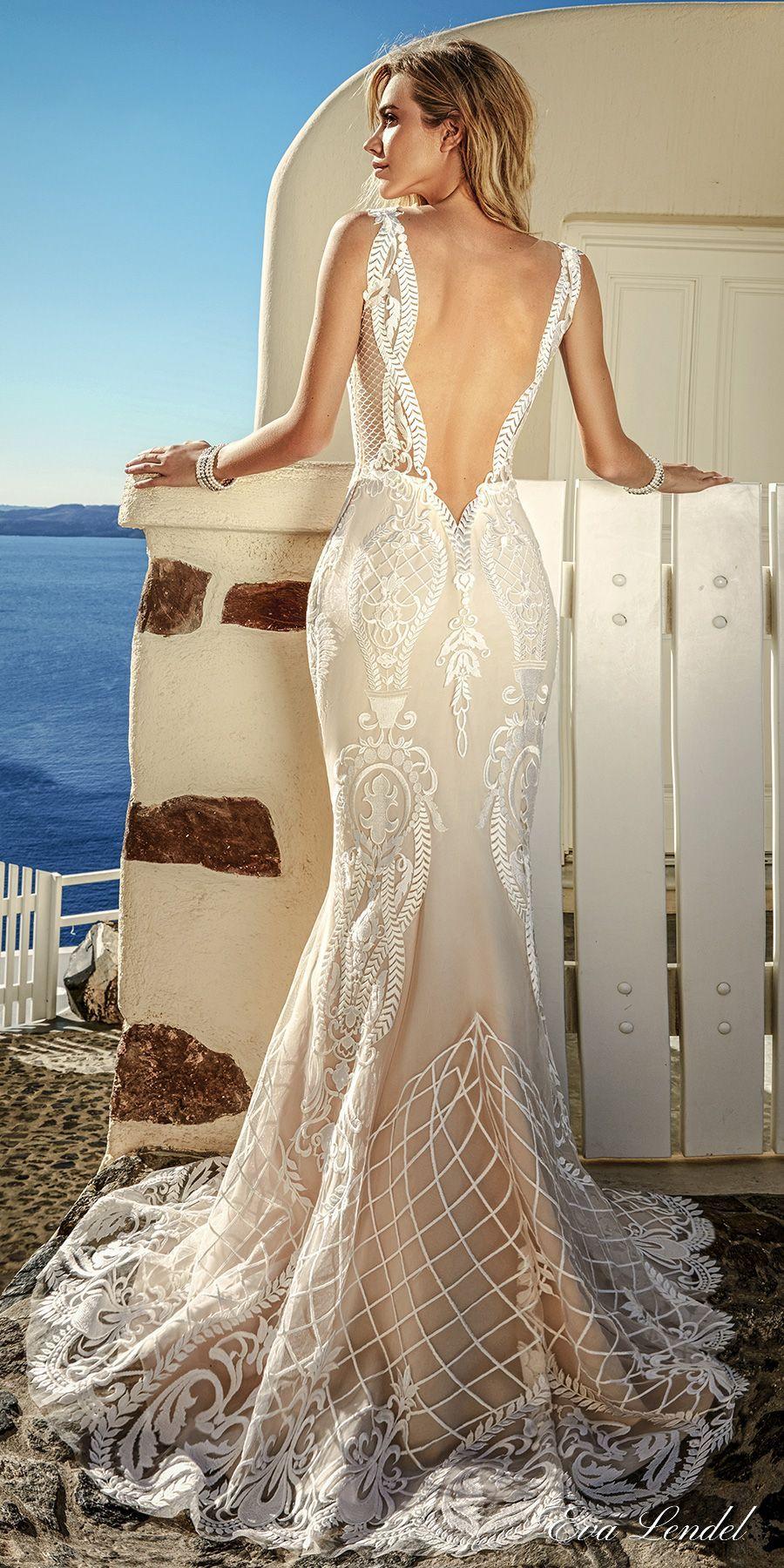 Eva lendel bridal sleeveless thin strap v neckline full