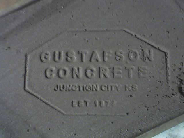 GUSTAFSON CONCRETE LOGO STAMP Cool concrete Pinterest Logo
