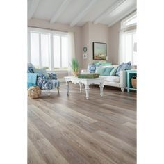 Stainmaster 10 Piece 5 74 In X 47 Washed Oak Dove Gray Floating Rustic Luxury Vinyl Plank At Lowes