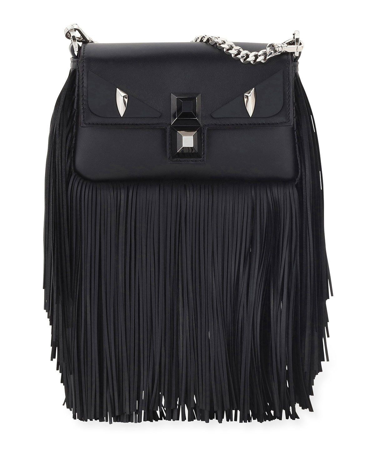 fc3132c8de Baguette Monster Micro Fringe Shoulder Bag, Black | Shop the look ...