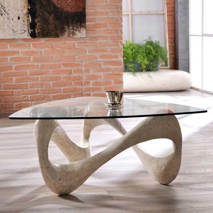 Design Couchtisch Orcia Mit Glasplatte Couchtisch Ideen Couchtisch Stein Couchtisch Design Couchtisch Glas Design