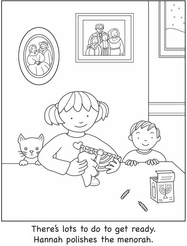 hanukah coloring pages | Jewisnland | Pinterest