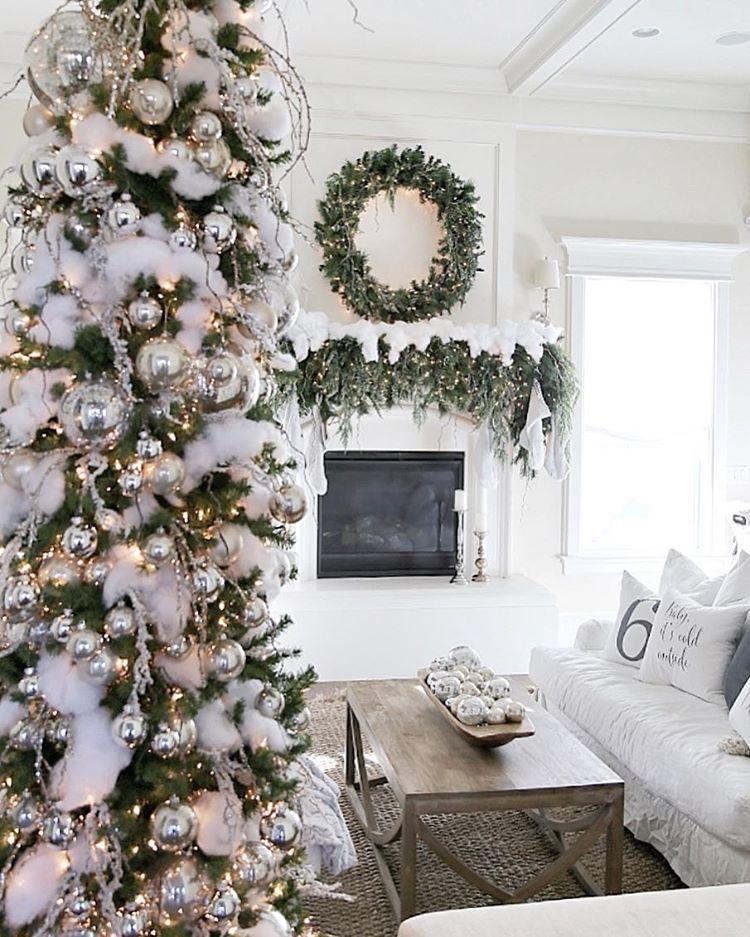 cambridgehomecompany elegant Christmas dcor farmhouse white silver