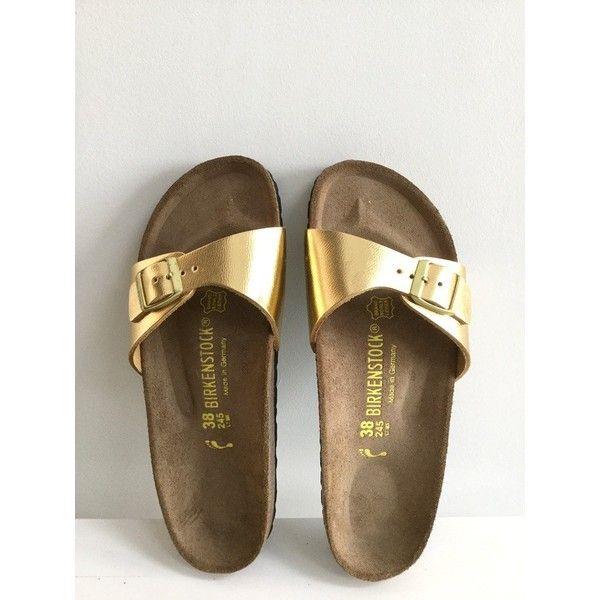 free shipping 52e51 0c87a Birkenstock Madrid Gold Metallic Sandals UK5 ❤ liked on ...