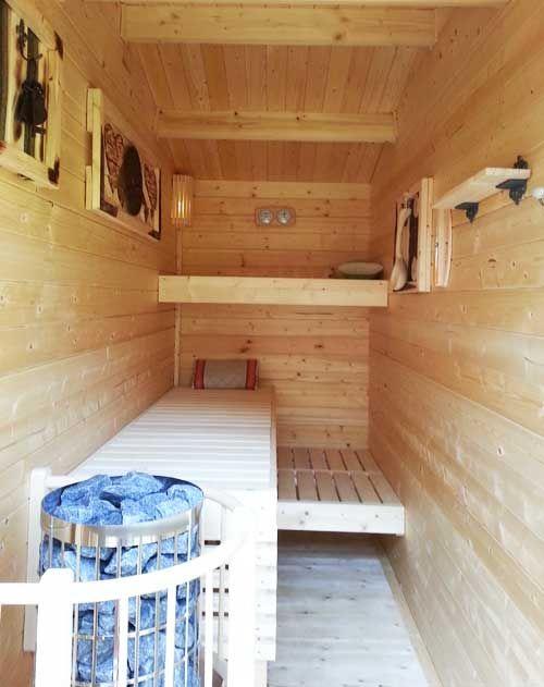 Ein Gartenhaus Wird Zum Wellnesshaus Mit Selbstbau Sauna Gartenhaus Mit Sauna Diy Sauna Haus