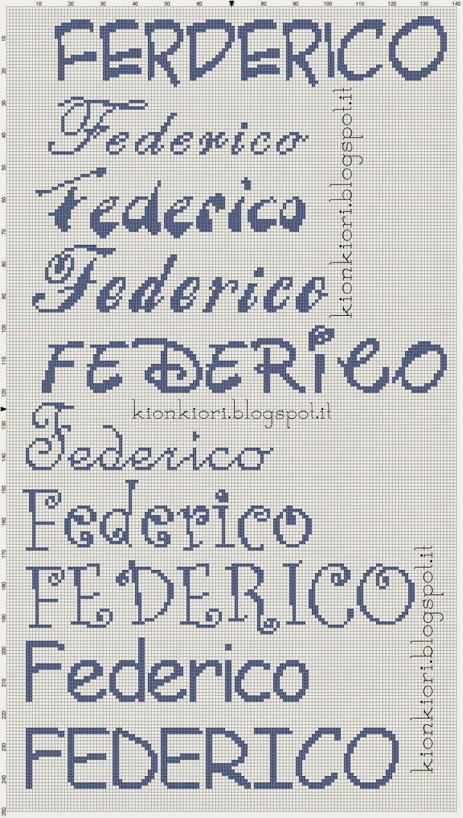 Federico punto croce punto croce lettere punto croce for Alfabeto punto croce grande