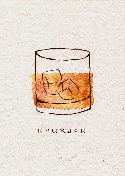 Bourbon Art Print Obsessed Sketch Book Art Inspiration Watercolor
