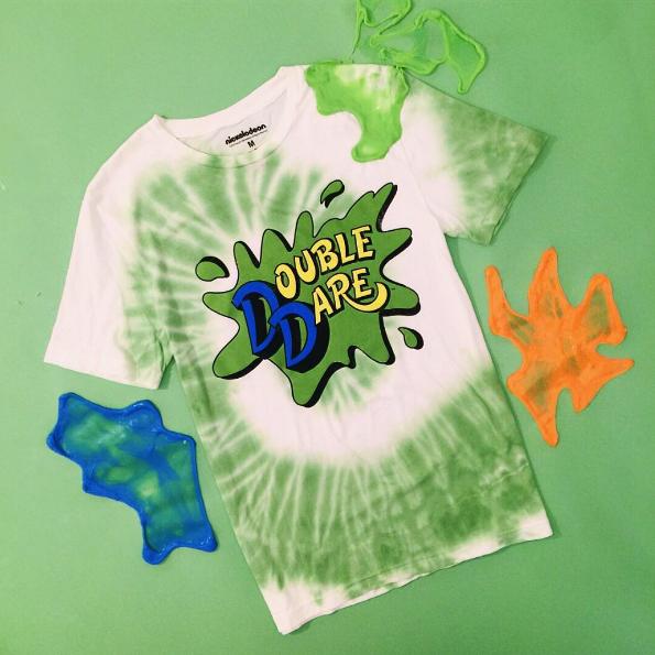 Nickelodeon Retro Double Dare Logo T Shirt Weird Fashion Tshirt Logo Graphic Shirts