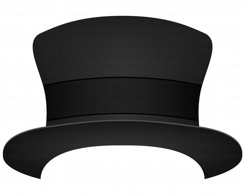Top Hat Svg Clipart Top Hat Png Commercial Use Top Hat Etsy Clip Art Hat Vector Top Hat