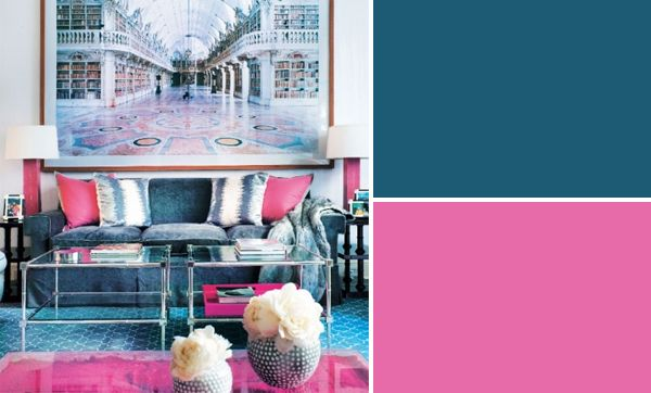Blue And Pink Interior Design Color Palette Pink Blue Color Schemes Pink Interiors Design