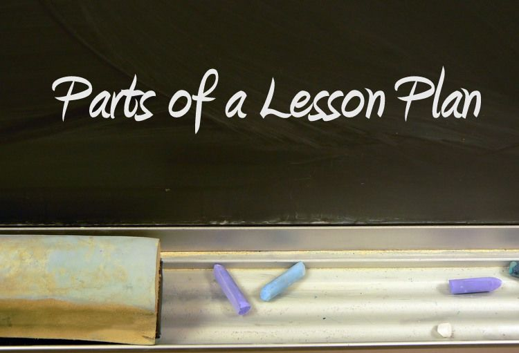 Parts Of A Lesson Plan And An Effective Easy Template  Lesson